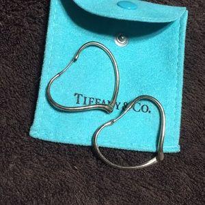 Tiffany & Co. Elsa Peretti Sterling Heart Earrings